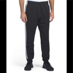 New Adidas cotton fleece black/white Jogger Sz:L M